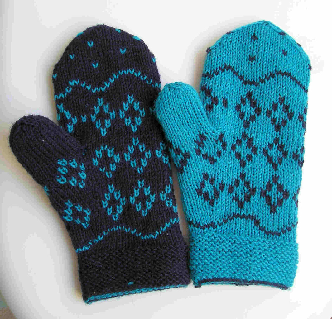 strickanleitung handschuhe doppelt gestrickt double face. Black Bedroom Furniture Sets. Home Design Ideas