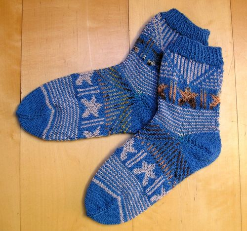 "Strickanleitung Socken ""Stars and Stripes"""