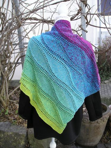 "Strickanleitung Dreieckstuch ""Night & Day"""